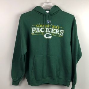 NFL Shirts - NFL Team Apparel Green Bay Packers Hoodie Large